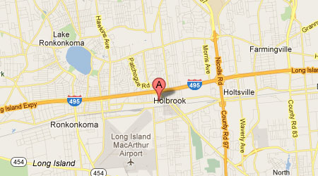 LASIK Long Island Holbrook Map