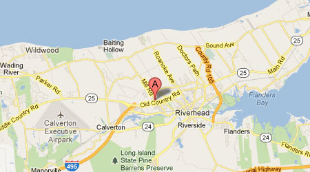 LASIK Long Island Riverhead Map