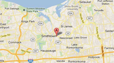 LASIK Long Island Smithtown Map